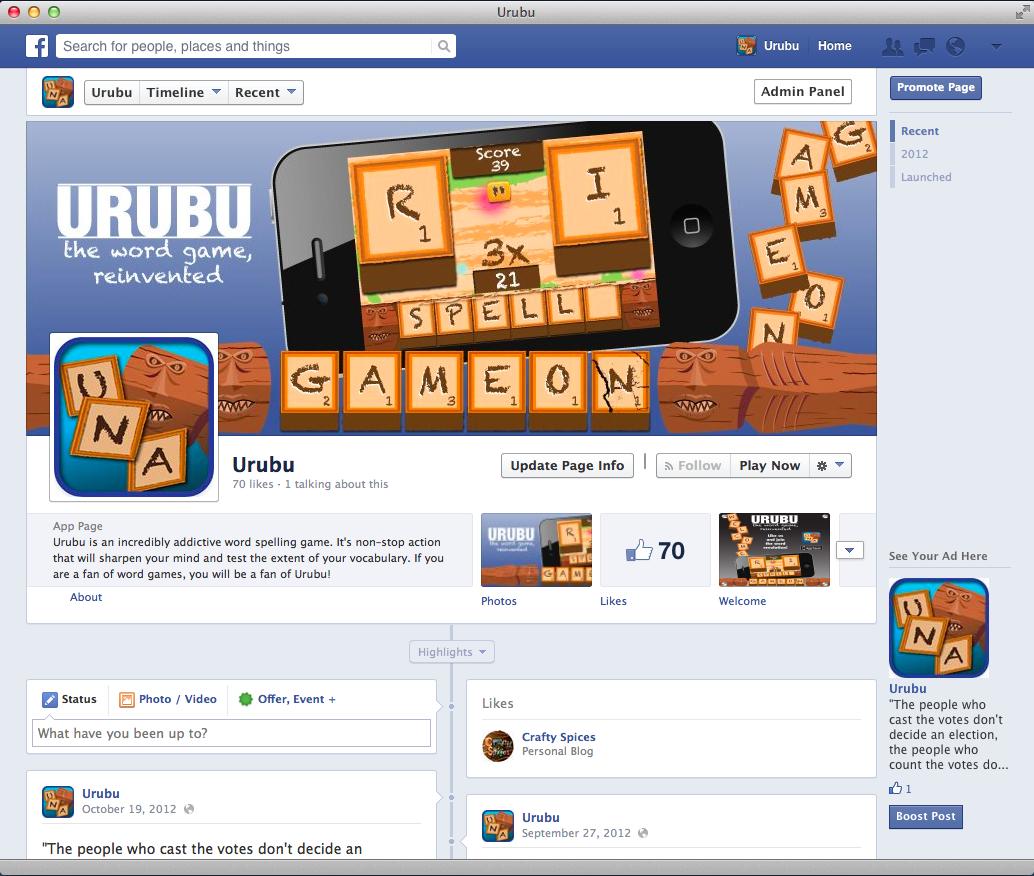 URUBU Facebook Page